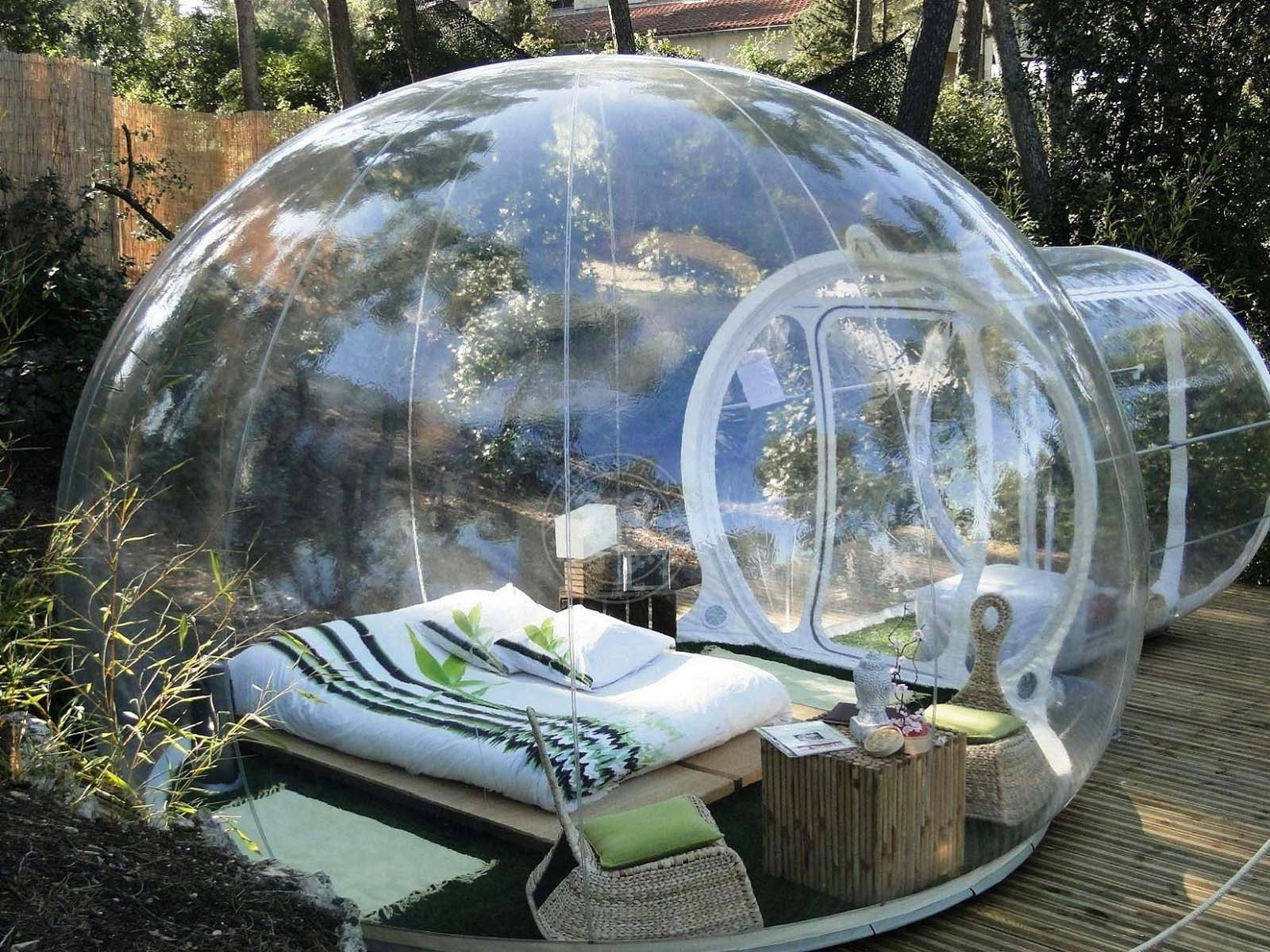 Designed Crystal Bubble Tent