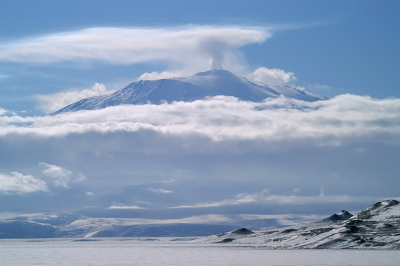 Erebus volcano on Antarctica