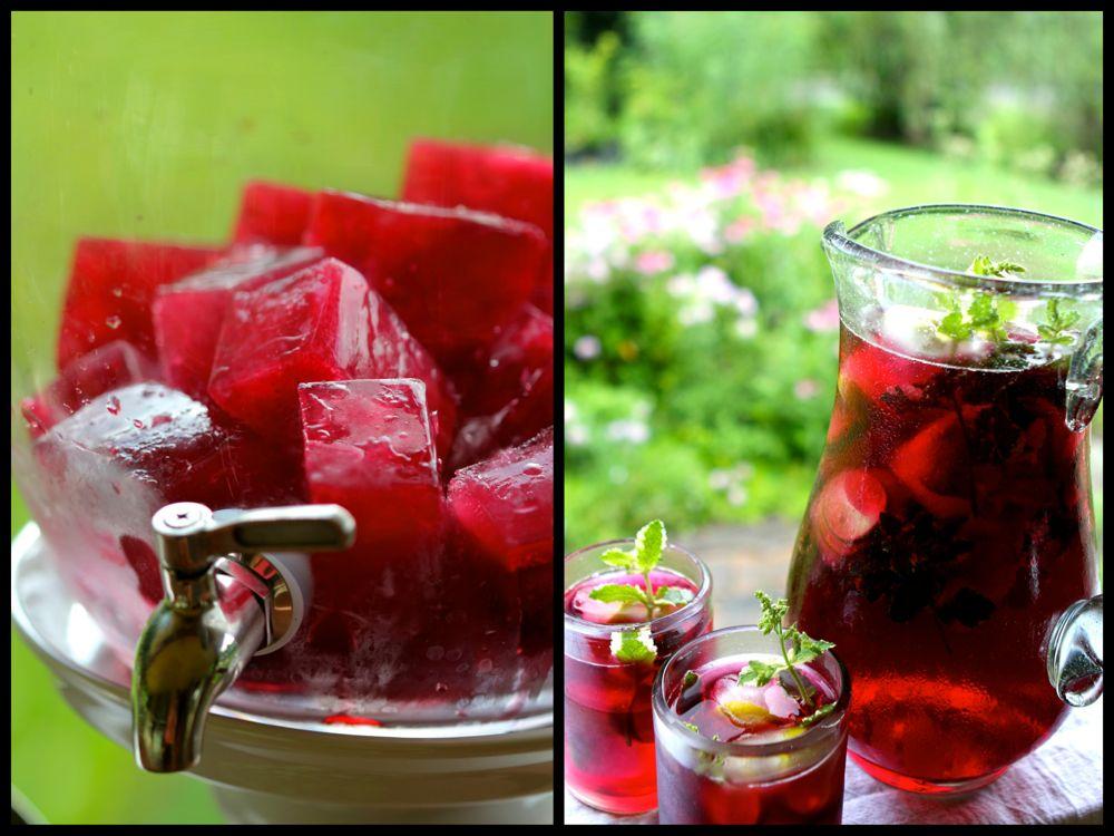 HIbiscus chilled tea