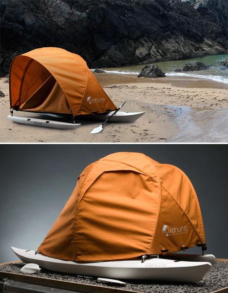 Kayak tent house