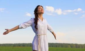 Oxygen breathing fresh air