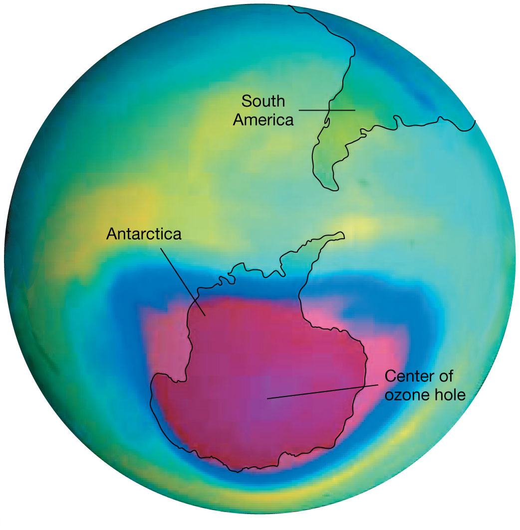 Ozone Hole above Antarctica 1