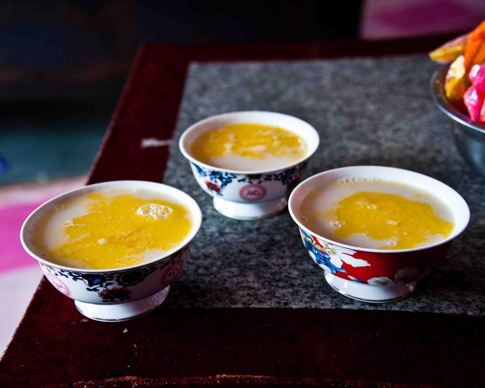 Salty tea with yak butter
