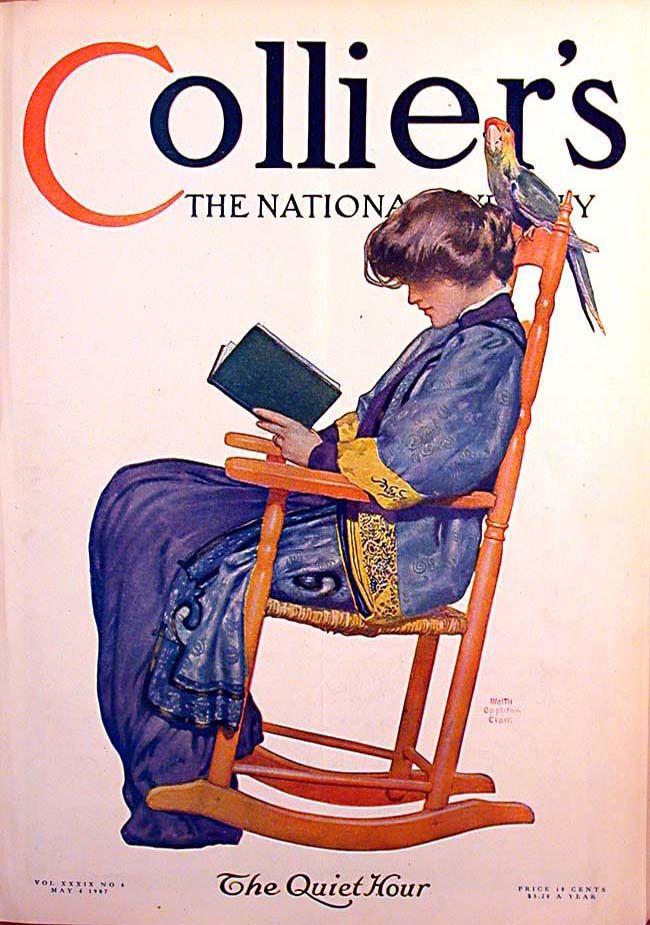 1 Vintage Collier's Magazine Cover - 1907