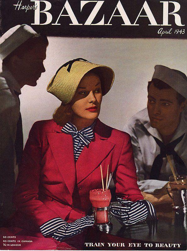 16 Harper's Bazaar magazine cover april 1943