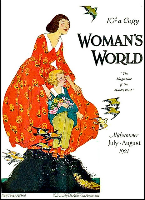 5 Vintage Magazine Cover Woman's world- July-August 1921