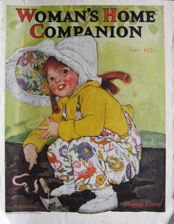 5 Vintage Woman's Home Companion Magazine Cover - June 1921