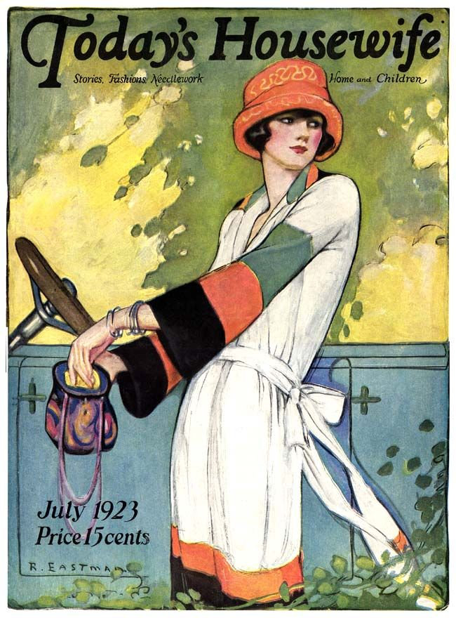 6 Vintage Magazine Cover - Artist Ruth Eastman - July 1923
