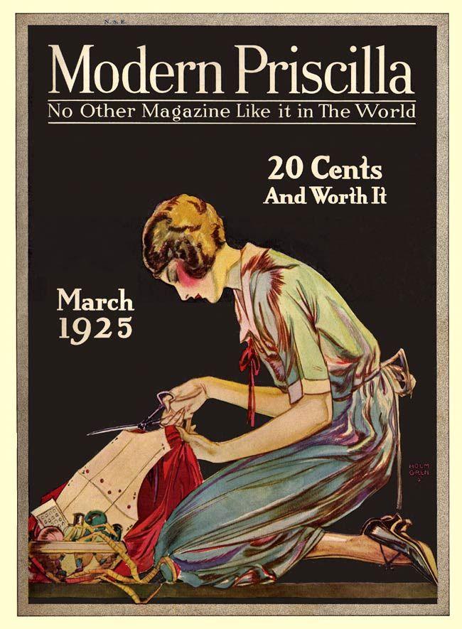 7 Vintage Modern Priscilla Magazine Cover - March 1925
