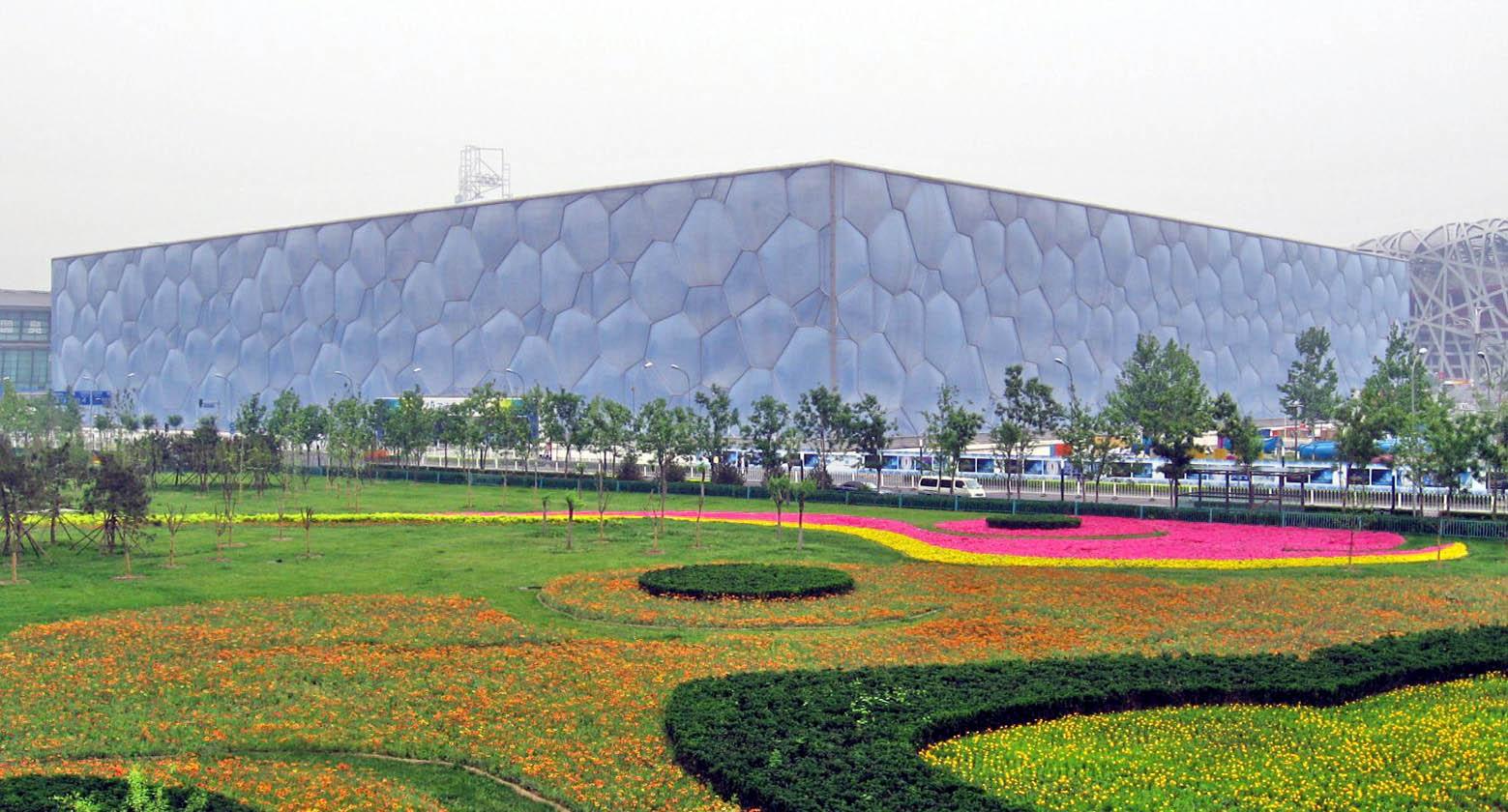 Beijing National Aquatics Center during day