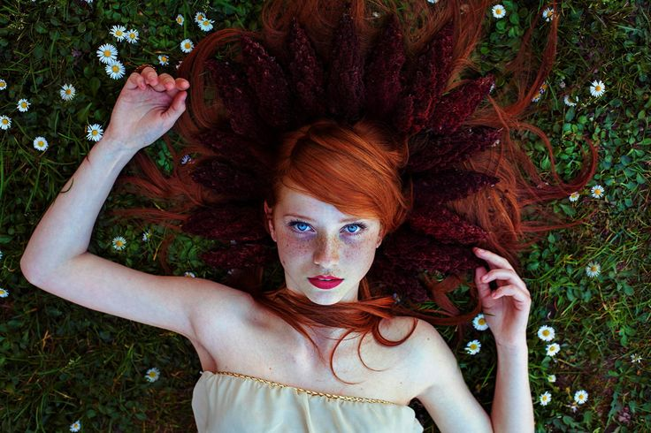 Blond and red hair will not disappear Redhair girl with freckles myths