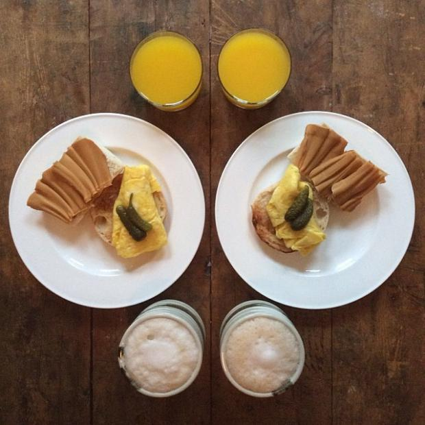 sandwich coffee and orange juice