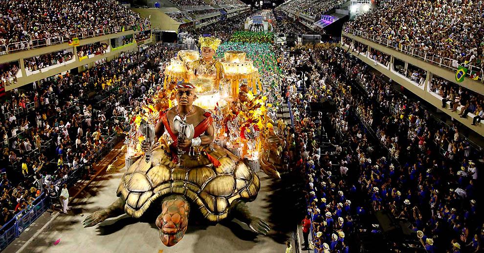 Carnival in Rio de janeiro Brazil platform
