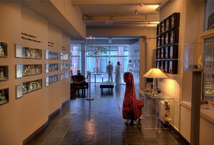 Gallery of mini bottles inside