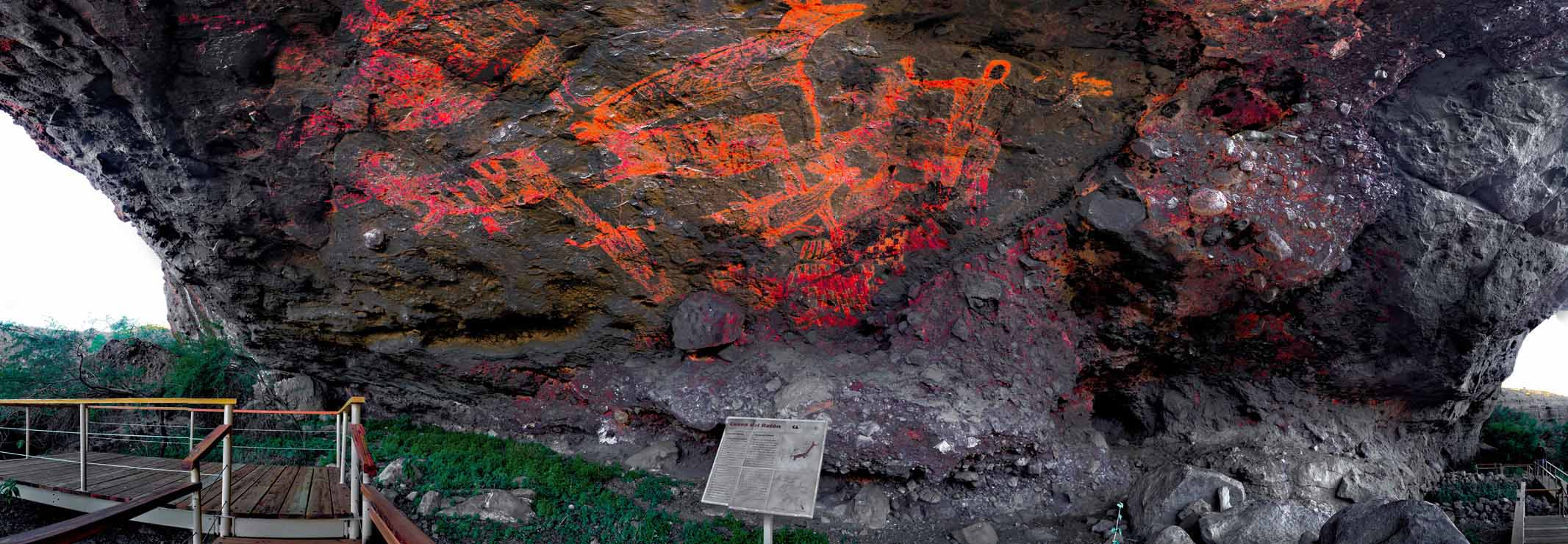 Rock paintings in Sierra de San Francisco 2