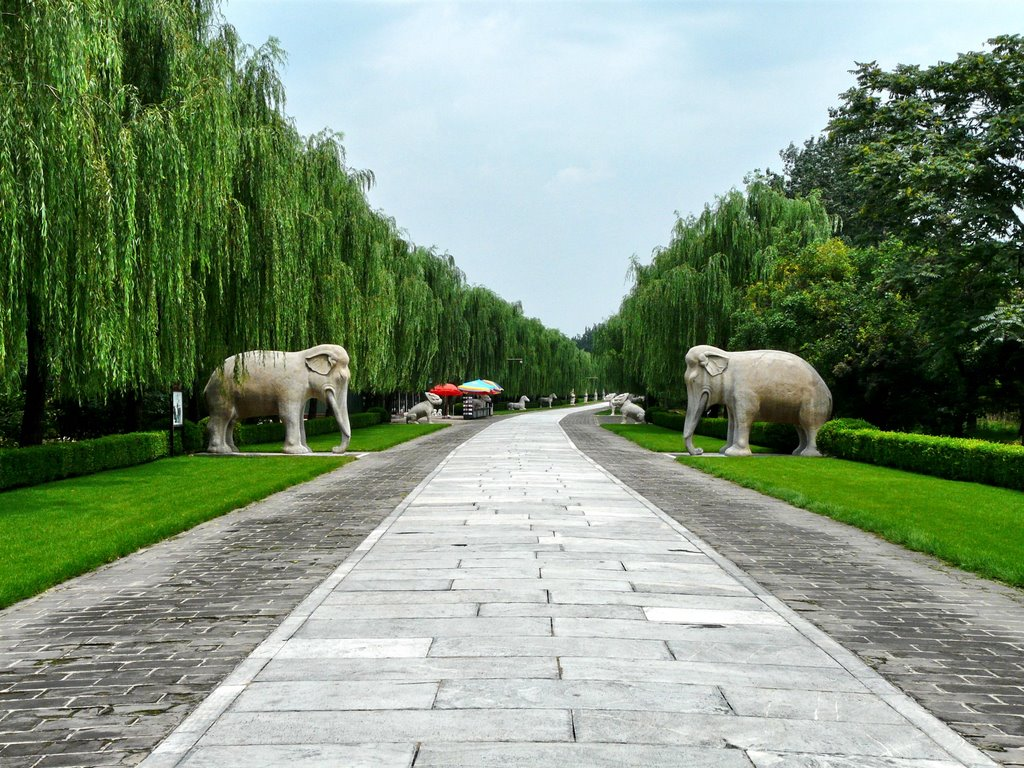 The Ming Dynasty tombs  Minsk tombs animals made of stone