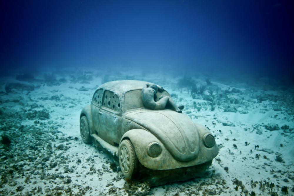 Underwater Museum in Cancun car