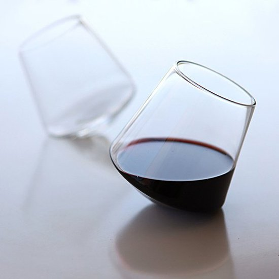 unordinary red wine glass