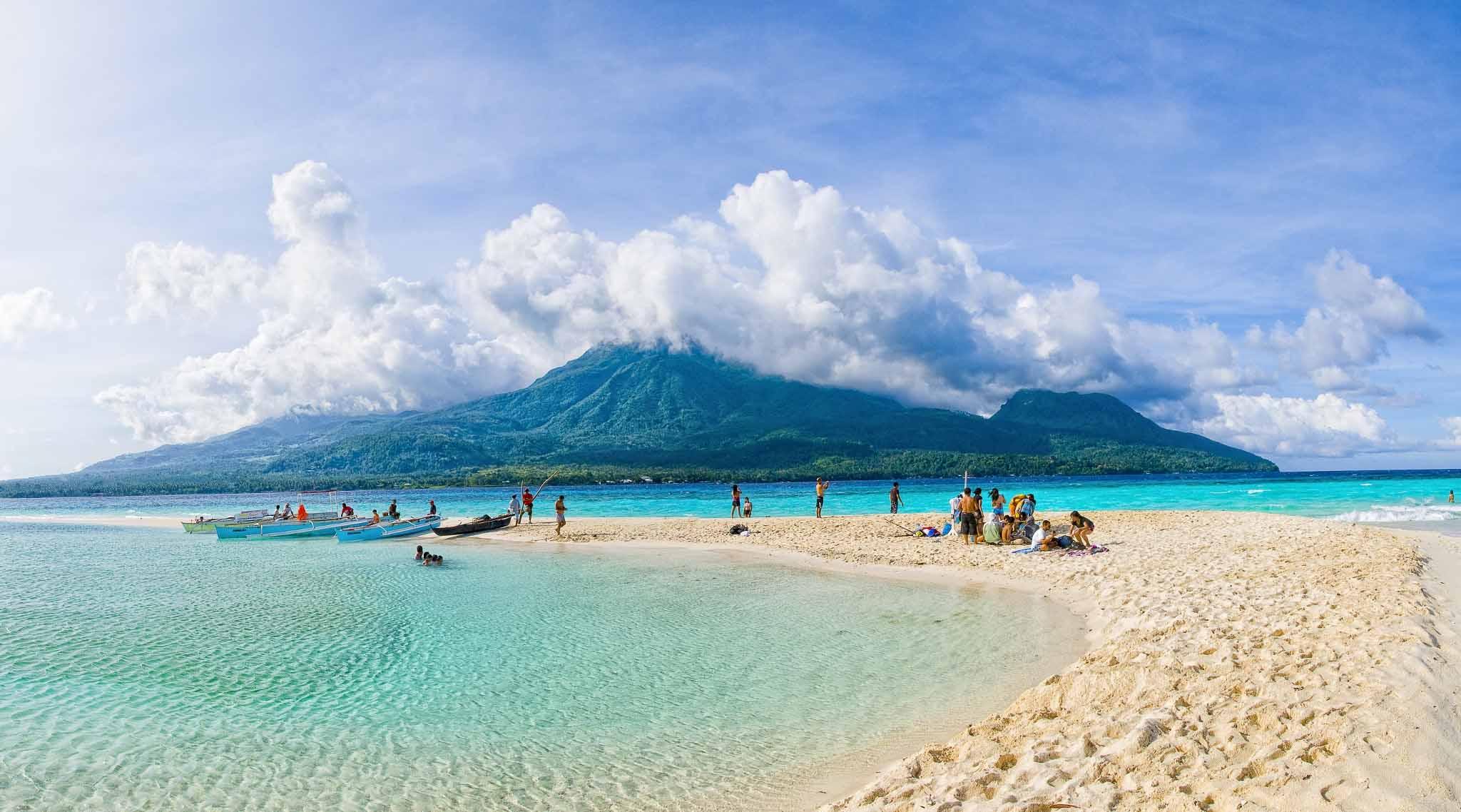 Camiguin island Volcano in Philippines
