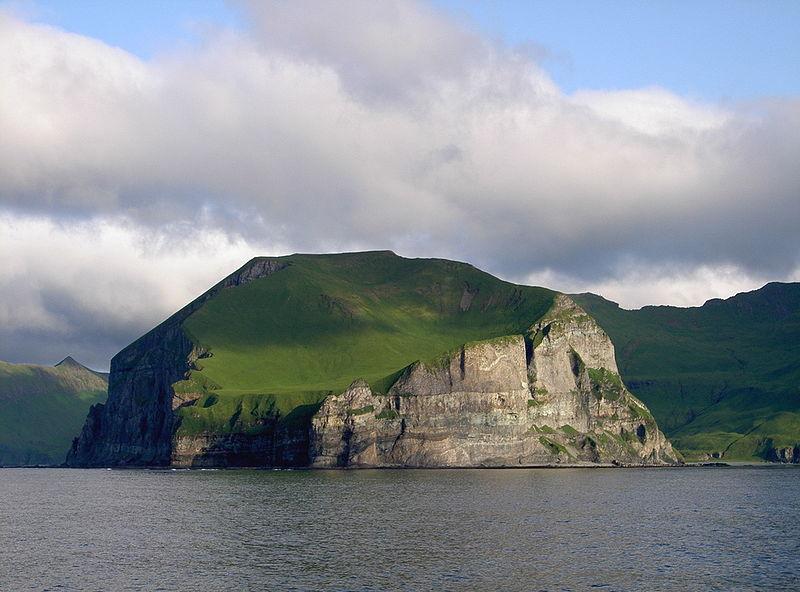 Cape Promontory Cape Lutkes, Alaska. Cape Lutkes is part of the Aleutian Islands