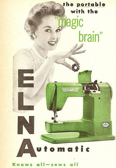 Elna vintage ad