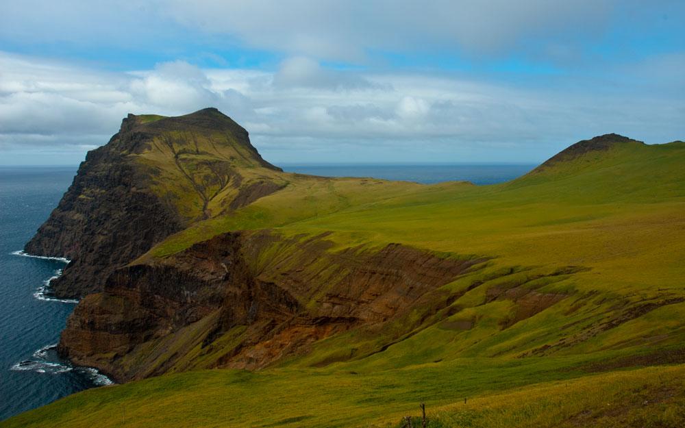 Hawadax island Rat island landscape