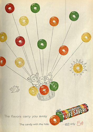 Life savers candy ad 1959