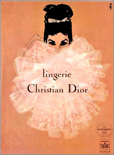 Lingerie Christian Dior ad