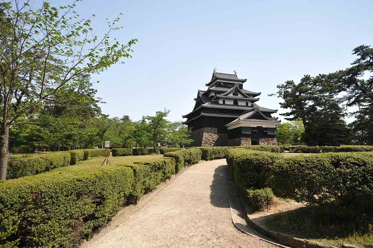 Matsue Castle in Japan 3 garden