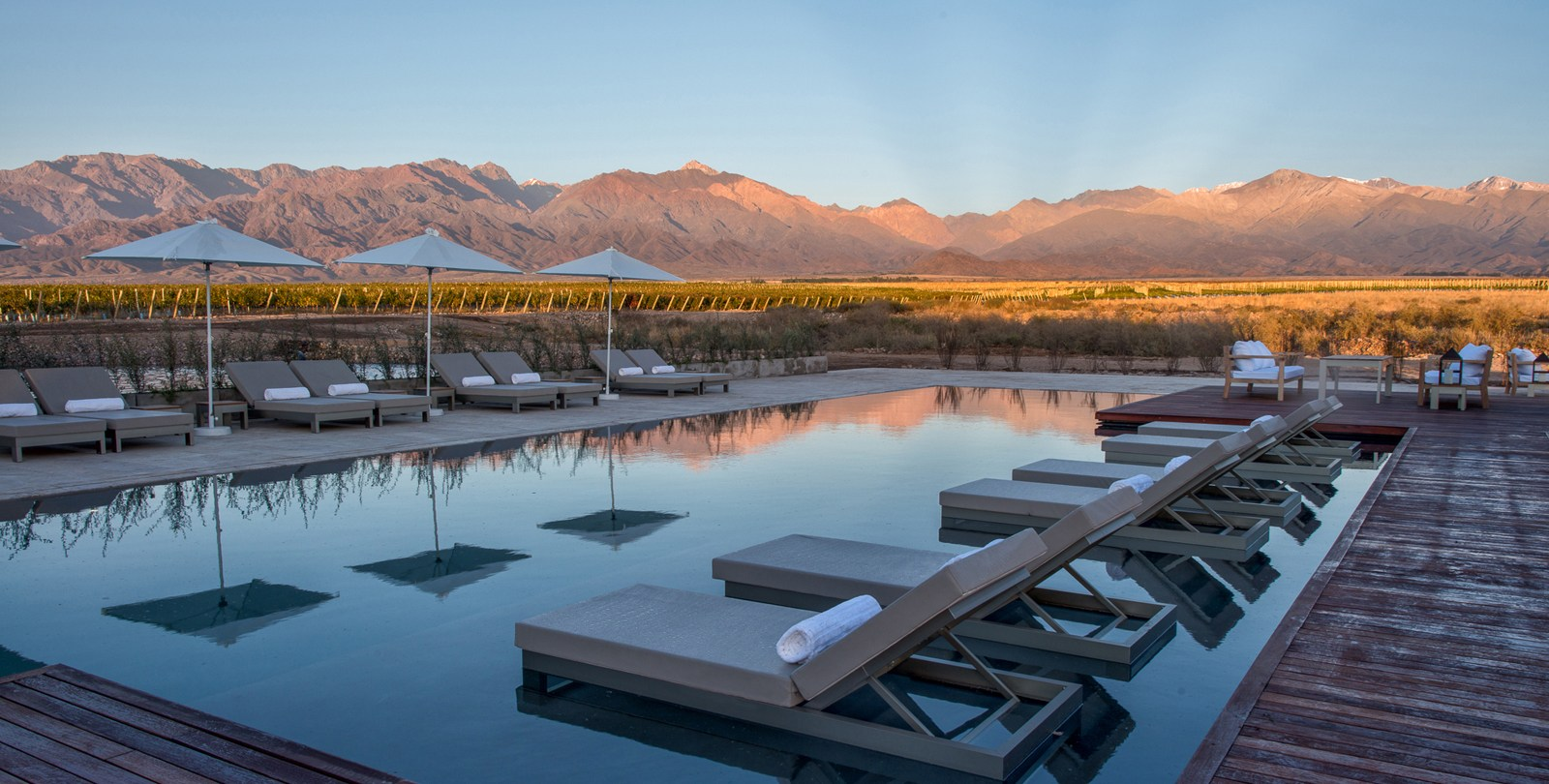 Mendoza Province, Argentina vineyard with pool
