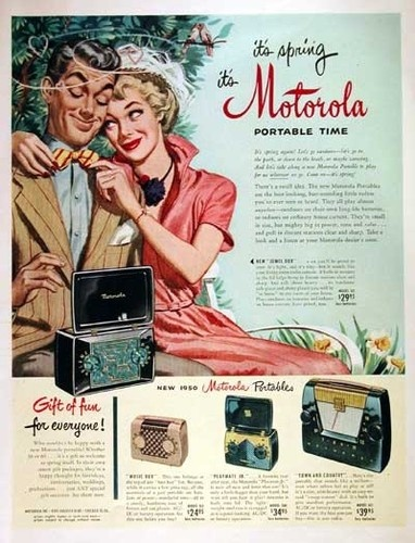 Motorola ad happy man and woman