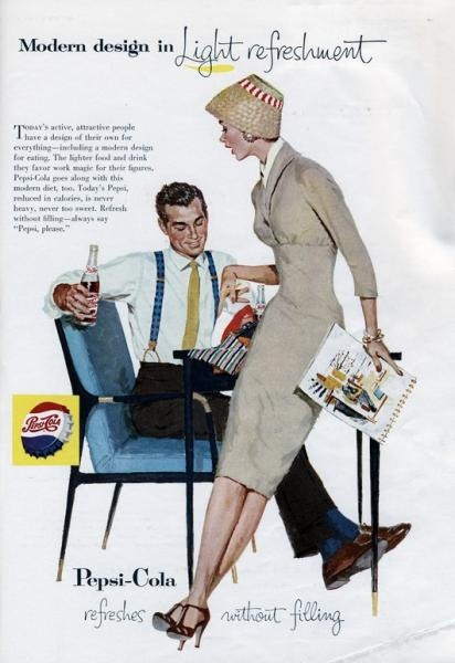 Pepsi Cola ad man and woman flirting