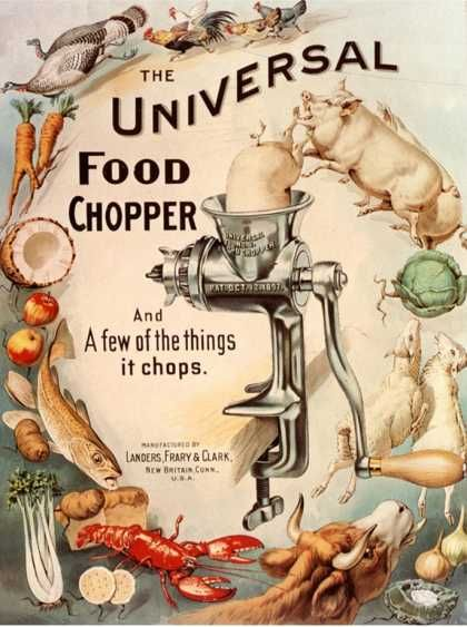 The universal food chopper ad