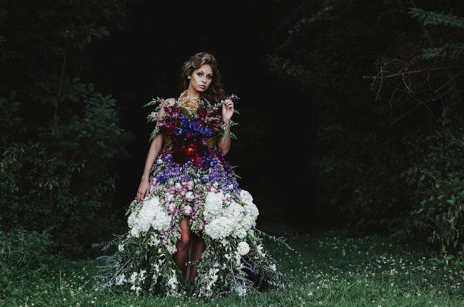DRESS MADE OF FLOWERS 10