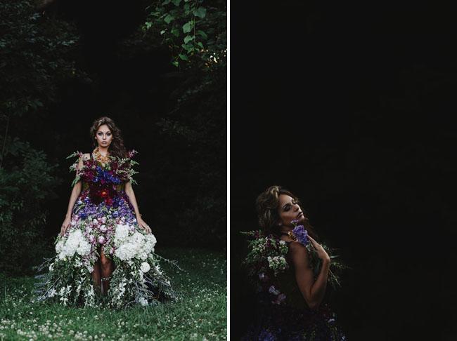 DRESS MADE OF FLOWERS 11