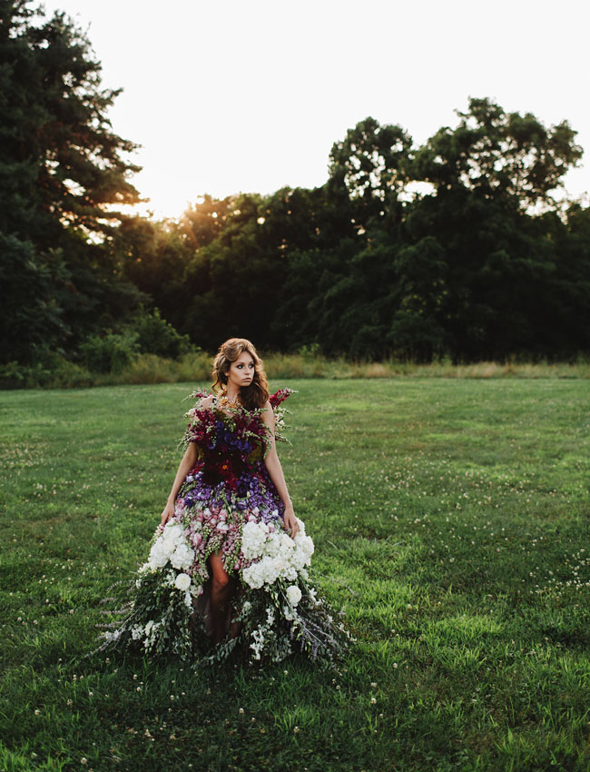 Wedding dress made of flowers pre tend be curious for Wedding dress made of flowers