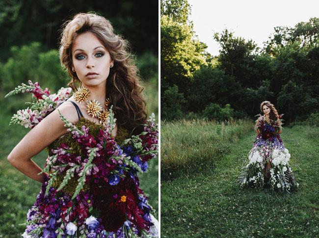 DRESS MADE OF FLOWERS 2