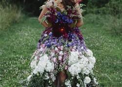 Wedding DRESS MADE OF FLOWERS