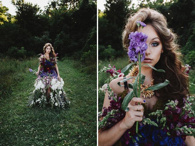 Wedding DRESS MADE OF FLOWERS 4