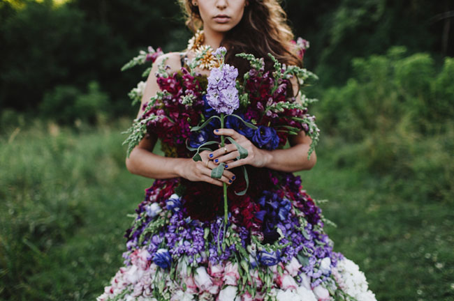 DRESS MADE OF FLOWERS 5