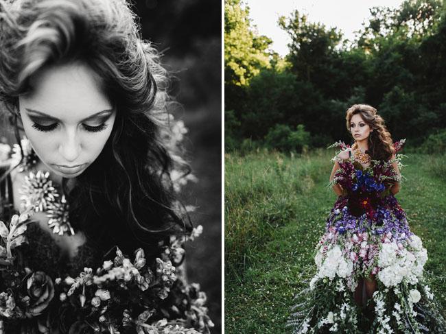 DRESS MADE OF FLOWERS 6