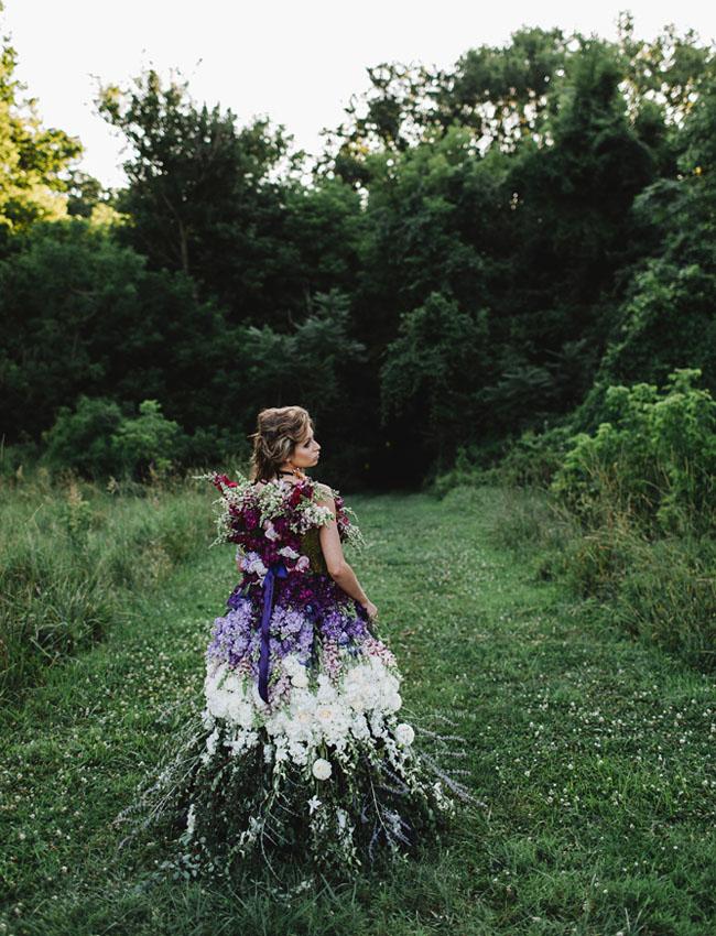 DRESS MADE OF FLOWERS 7