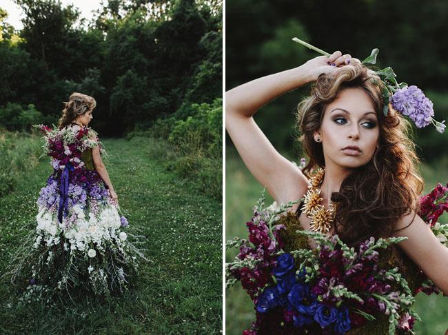 Wedding DRESS MADE OF FLOWERS 8