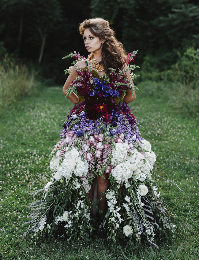Wedding DRESS MADE OF FLOWERS