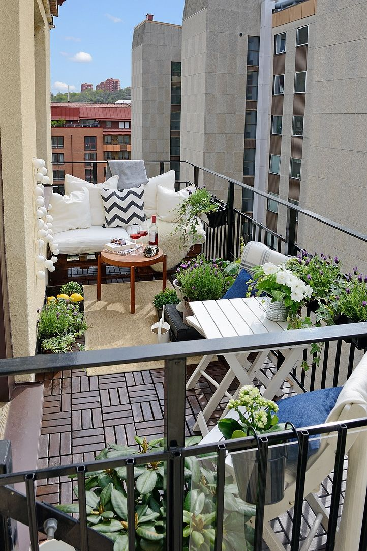 Balcony with designed furnitures