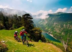 Durmitor mountain people with bikes