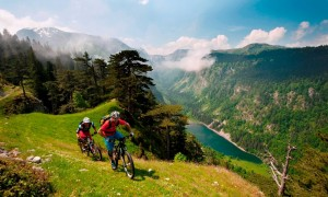Durmitor mountain people with bikes