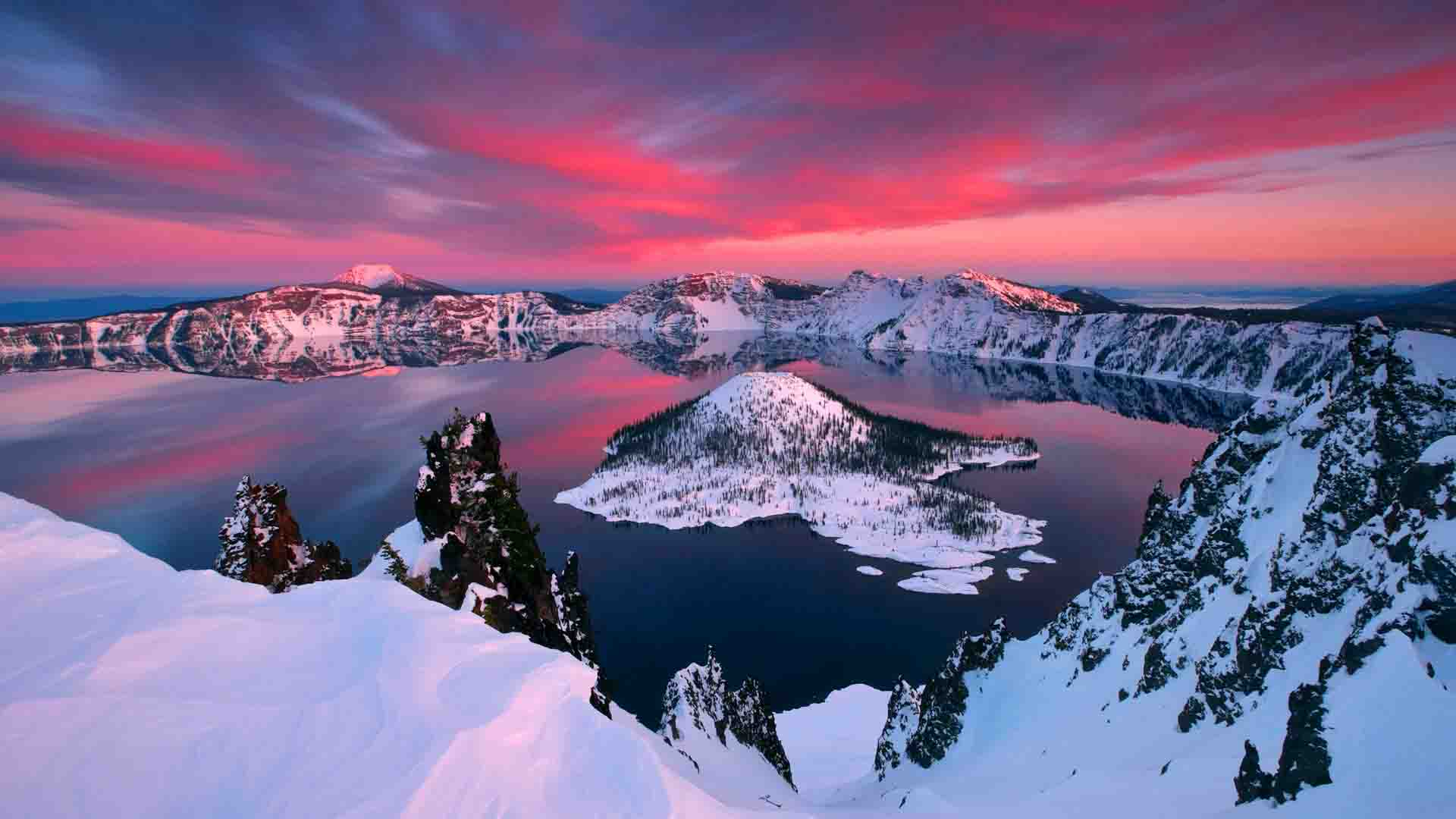 The crater lake, Oregon best places to swim