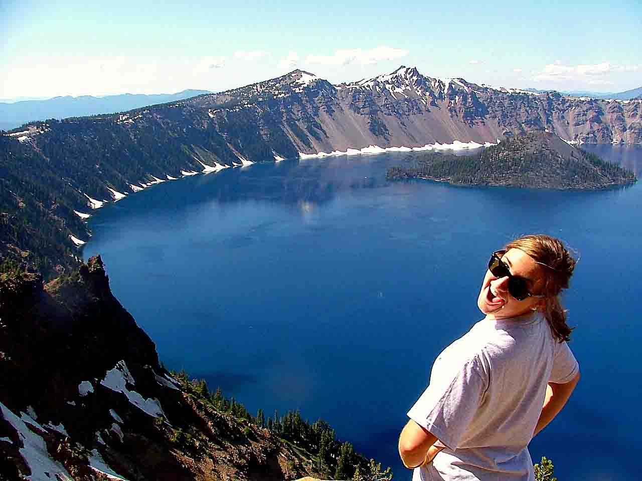 The crater lake, Oregon most interesting places to swim