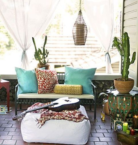 boho style outside furnitures